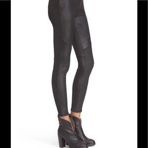 NWT Free People Black LetGo Faux Leather Leggings